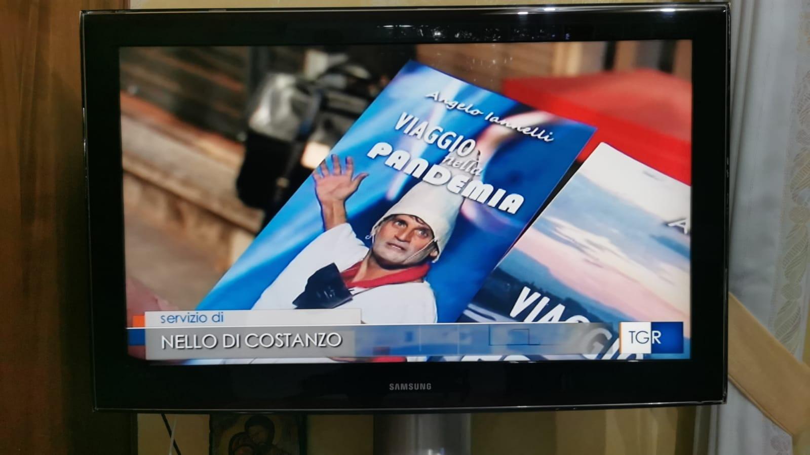 """Il libro """"Viaggio nella Pandemia-La sfida di Pulcinella"""" anche su Tg3 Campania"""