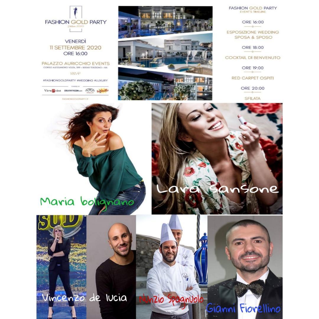 8°edizione del party della moda: Fashion Gold Party Wedding 2020