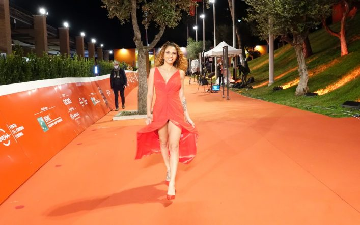 L'attrice Miry D'Amico al Festival del Cinema di Roma