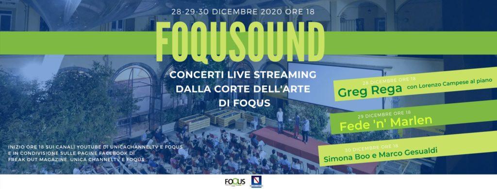 Tre giorni di musica in streaming gratuito con FoquSound a Napoli