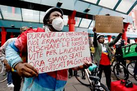 Protesta rider a Milano per bici sui treni - Lombardia - ANSA.it