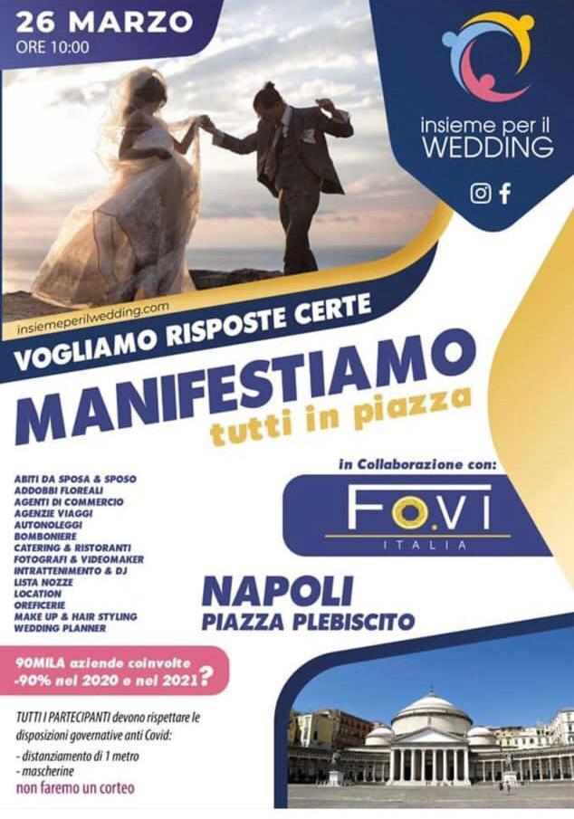 Il mondo del Wedding alza la voce: la protesta in Piazza Plebiscito il 26 marzo