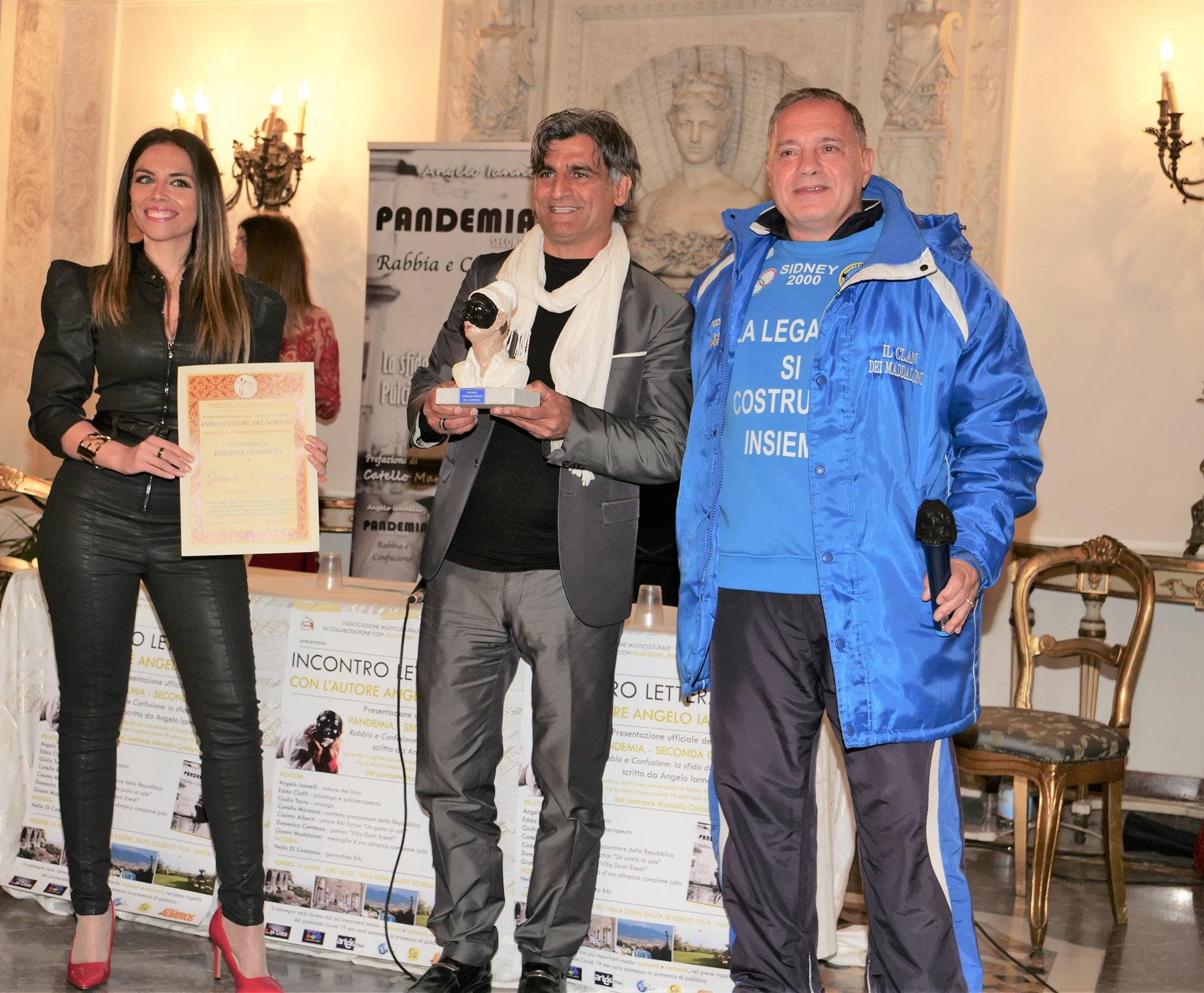 Gianni Maddaloni riceve il prestigioso Premio Ambasciatore del Sorriso