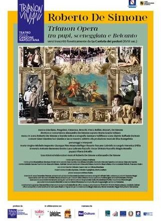 """Nel ritrovato teatro pubblico di Forcella arriva il nuovo spettacolo di Roberto De Simone: """"Trianon Opera"""""""