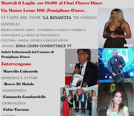 """La sesta tappa del tour """"La Rinascita""""al Clori Flower Diner di  Pomigliano D'Arco (NA)"""