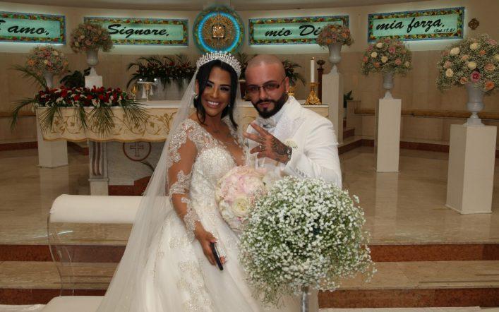 Un'atmosfera magica al Wedding di Lele Blade e Maggie Suarez