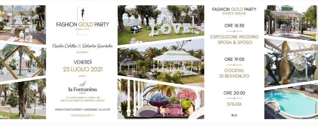 Fashion Gold Party Wedding: la nona edizione a la Fontanina Events il 23 luglio 2021
