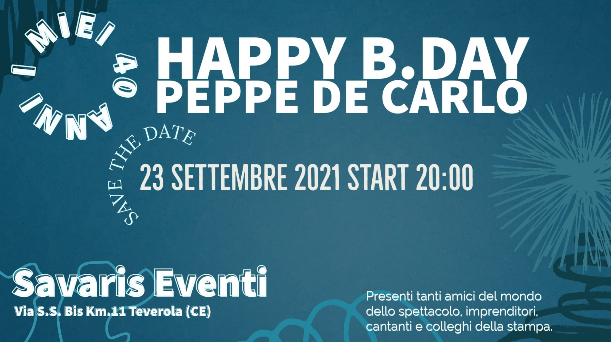 Happy Birthday per Giuseppe De Carlo, e sono 40