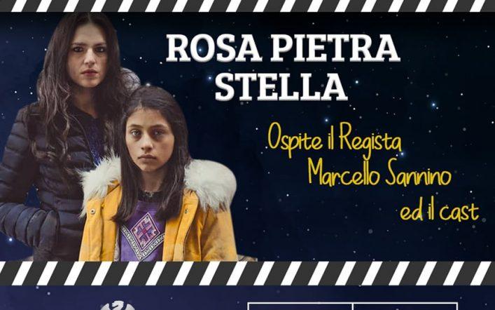 """Ospiti della rassegna cinematografica """"Vanvitelli sotto le stelle"""": il regista Marcello Sannino e la produttrice Antonella Di Nocera"""