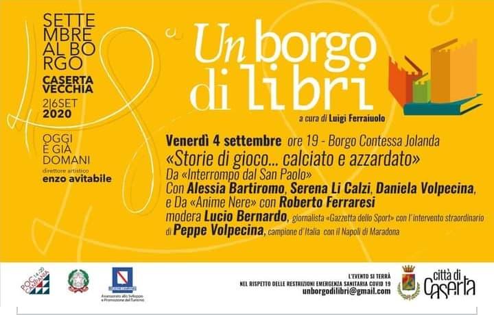 """Presentazione del libro """"Interrompo dal San Paolo"""" all'evento """"Un Borgo di Libri"""""""
