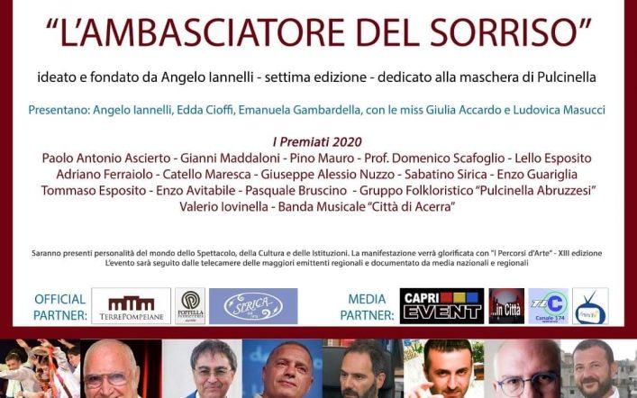 Il Premio Ambasciatore del Sorriso quest'anno sarà targato Pulcinella