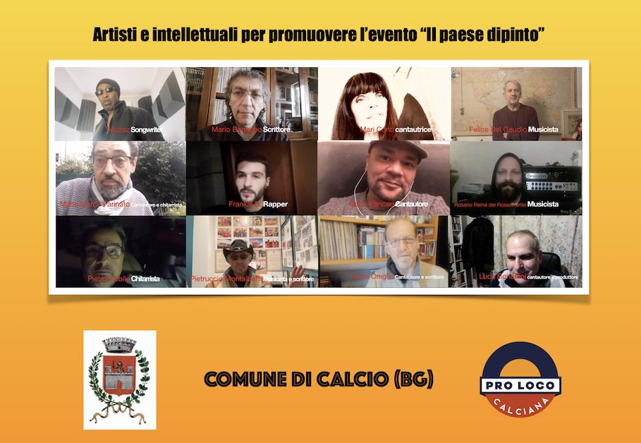 """Artisti e intellettuali si ritrovano online per promuovere l'evento """"Il Paese dipinto"""""""