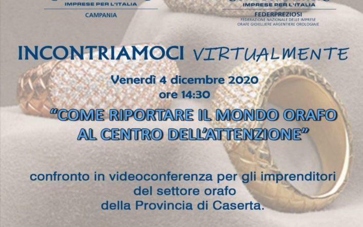 Videoconferenza di Federpreziosi Confcommercio