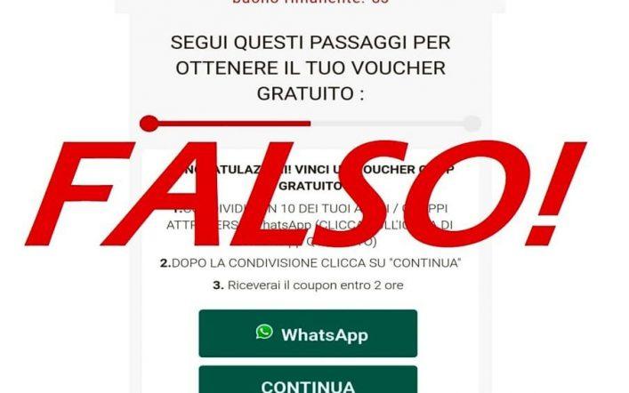 Su Whatsapp ancora la truffa dei falsi coupon