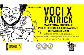 Tante voci musicali per chiedere la libertà di Patrick George Zaki