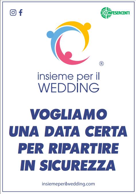 """Wedding, le associazioni e le imprese chiedono: """"Facciamo ripartire in sicurezza i matrimoni"""""""