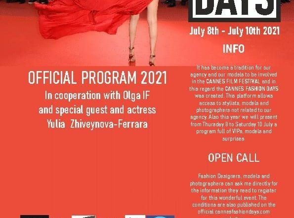 La vulcanica Olga IF al Cannes Fashion Days con il suo style fashion vincente